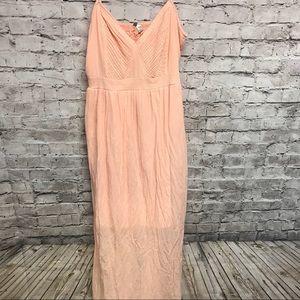 Lc Lauren Conrad maxi dress Sz XL peach long